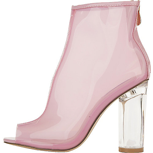 Cape Robbin Benny-1 Ankle Booties Pink