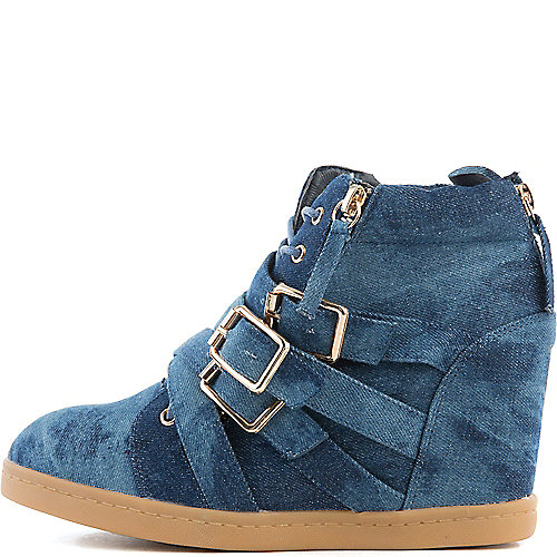 Liliana Biggie Hidden Wedge Casual Sneakers Navy