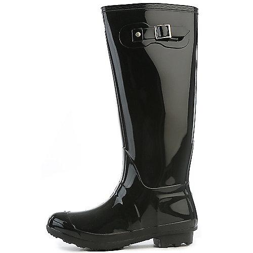 Bamboo Womens Padinton-01 Black Rain Boots