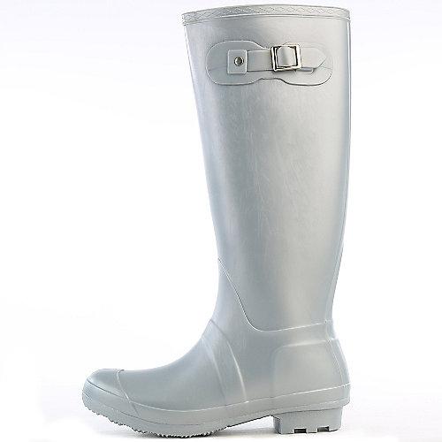 Bamboo Womens Padinton-01 Silver Rain Boots