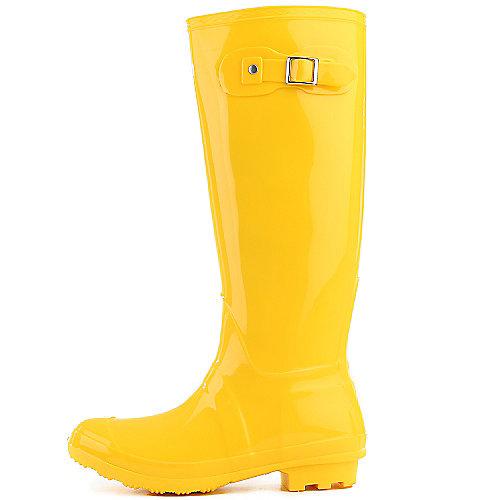 Bamboo Womens Padinton-01 Yellow Rain Boots