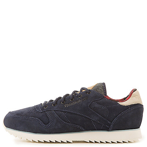 Reebok Classic Leather Outdoor Athletic Sneakers Navy Running Shoes