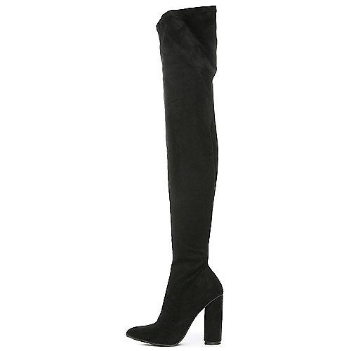 Cape Robbin Paw-2 Thigh-High Boots Black
