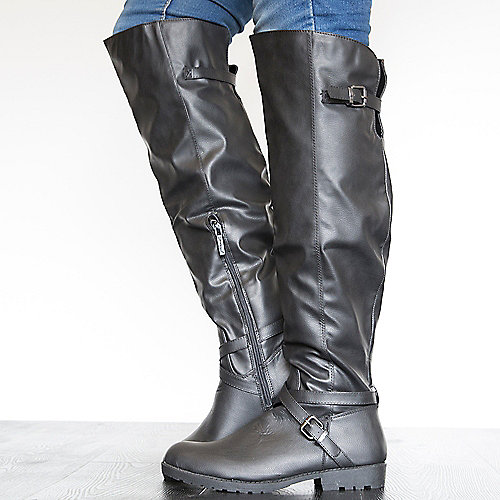 Nature Breeze Laredo-010K Knee High Boots Black