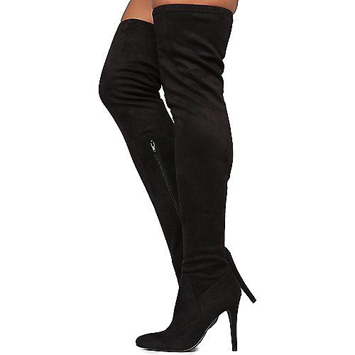 Paprika Yestin Thigh High Boots Black