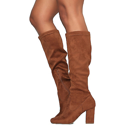 City Classified Pichu-S Mid-Calf Boots Taupe Mid-Calf Boots