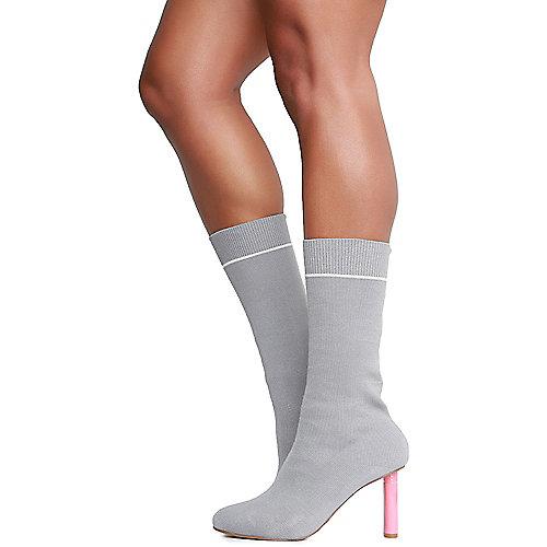 Cape Robbin Dneuce-1 Mid-Calf Boots Grey