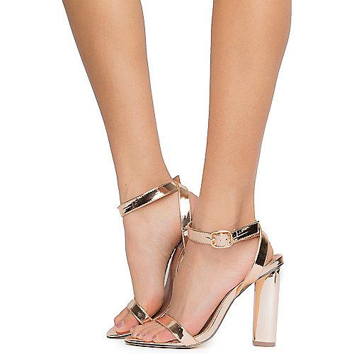 Cape Robbin Connie-2 High Heel Dress Shoe Gold