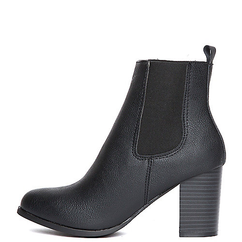 Wild Diva Jessica-01 Ankle Boots Black Mid-Calf Boots