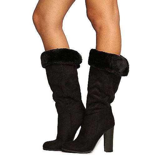 Wild Diva Emilia-07 High Heel Boots Black