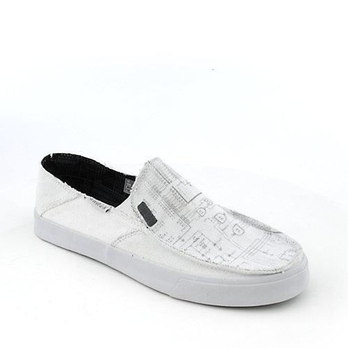Sanuk Mens Short Circuit White Slip-on Shoes