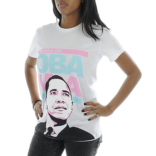 Iknox Inc Womens Run Obama Tee