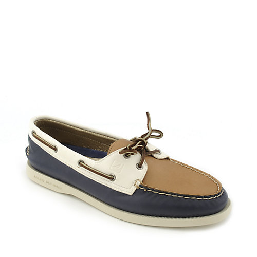 Sperry Top-Sider Top-Sider 2 Eye Tri-Tone Navy Boat Shoes