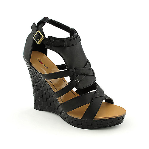 Promise Pancho Black Platform Shoes