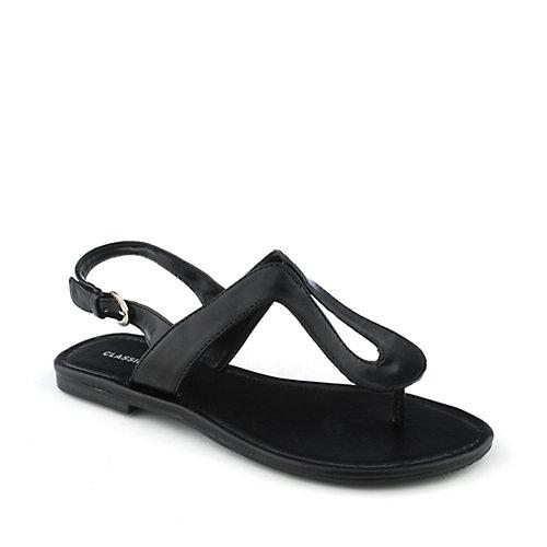 Classified Cheri-S Black Slingback Sandals