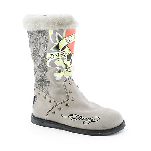 Ed Hardy Womens Strap Boot