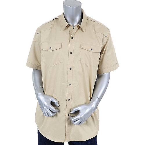 Sean John Mens Solid Shortsleeve Shirt