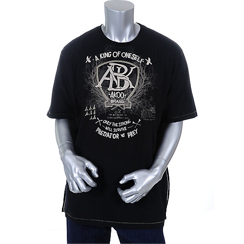 Akoo Mens Black Solidity Tee
