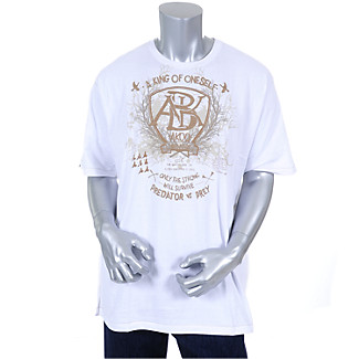 Mens White Solidity Tee