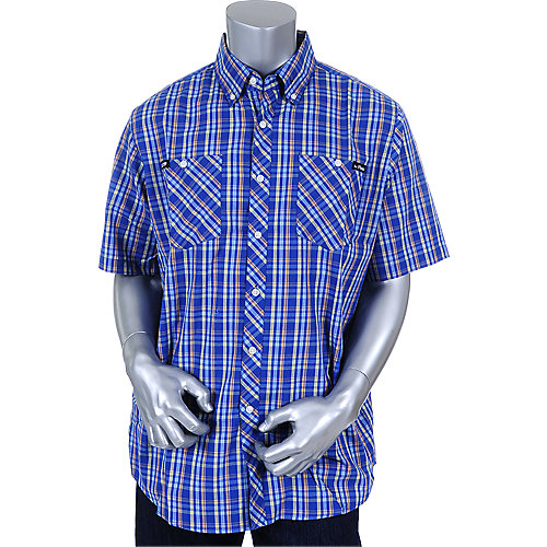 Crooks & Castles Mens Blue Letter Woven Shirt
