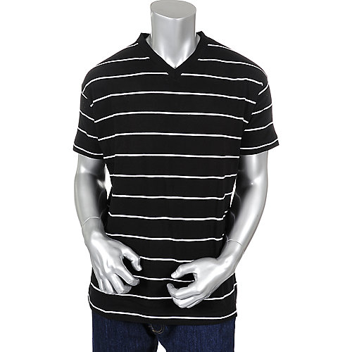Jordan Craig Mens Thin Stripes V Tee