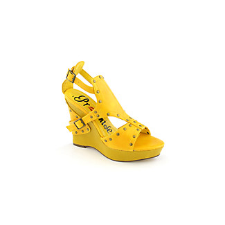 473db32a340 I love cheap shoes because you do not feel bad once you wear them out  instead you have more money saved for more pairs. This yellow wedge by  Promise is at ...
