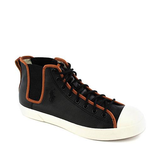 Polo Ralph Lauren Mens Francisco Mid Sneaker Black