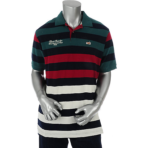 Akoo Mens Dweller Pique Stripe Polo