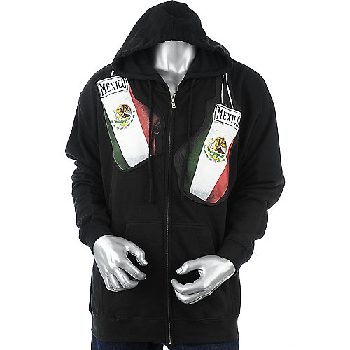 Urban Soul Mens Mexico Gloves Hoodie