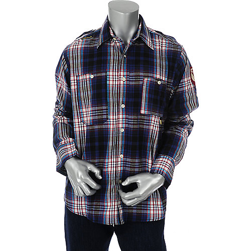 Akademiks Mens Assasin Long Sleeve Woven Shirt