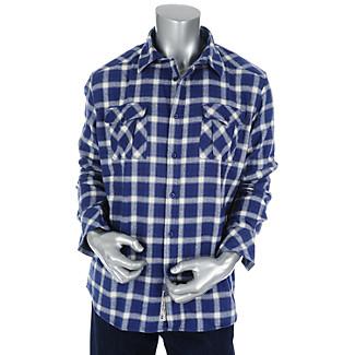 Mens Woven Plaid Shirt