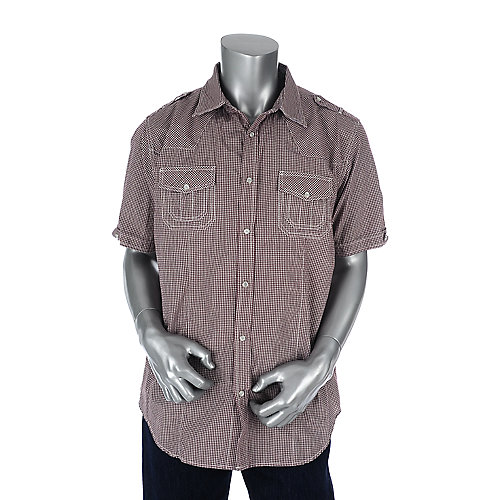 Jordan Craig Mens Wine Button Shirt