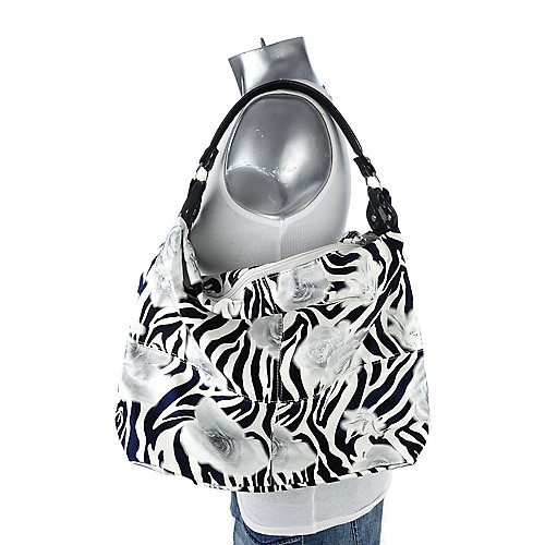 Shiekh Zebra Rose Hobo