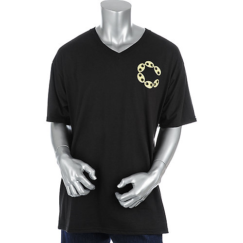 Crooks & Castles Mens Big C Link V-Neck Tee