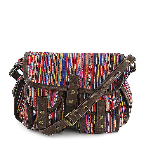 Shiekh Small Striped Knit Handbag