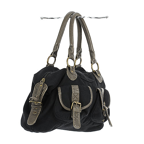 Shiekh Buckle Front Canvas Bag