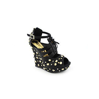 Shiekh Daria Womens dress platform wedge :  black platforms platforms heels spikes