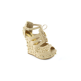 Posh Daria Womens dress platform wedge :  strappy platforms taupe wedges posh daria womens dress platform wedge studded platforms