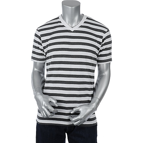 Galaxy by Harvic Mens Striped Tee