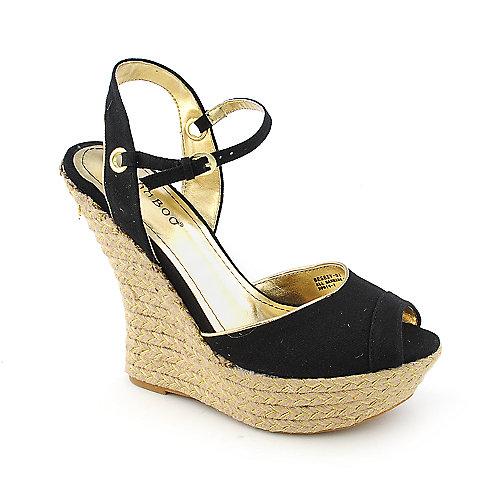 Bamboo Besexy-01 Black Espadrille