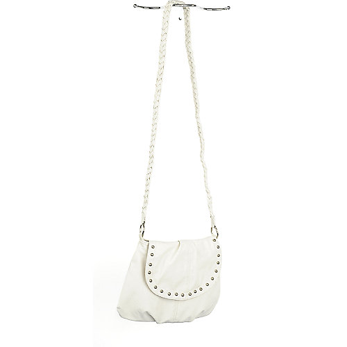 Shiekh Ivory Studded Shoulder Bag