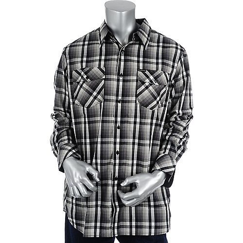 Rocawear Mens Long Sleeve Plaid Shirt