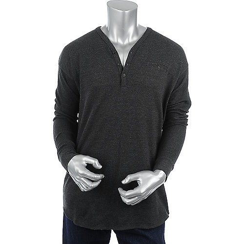 Jordan Craig Mens Henley Thermal Shirt