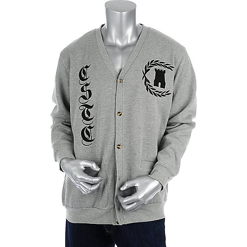Crooks & Castles Mens Leaf Cardigan
