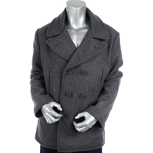 Jordan Craig Mens Side Pocket Wool Peacoat