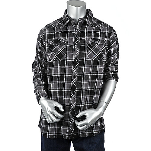 Shiekh Mens Long Sleeve Flannel Shirt