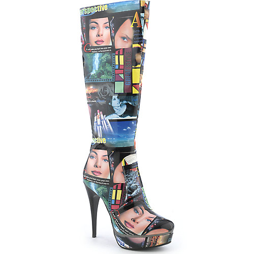 Lady Couture Womens Collage Boot