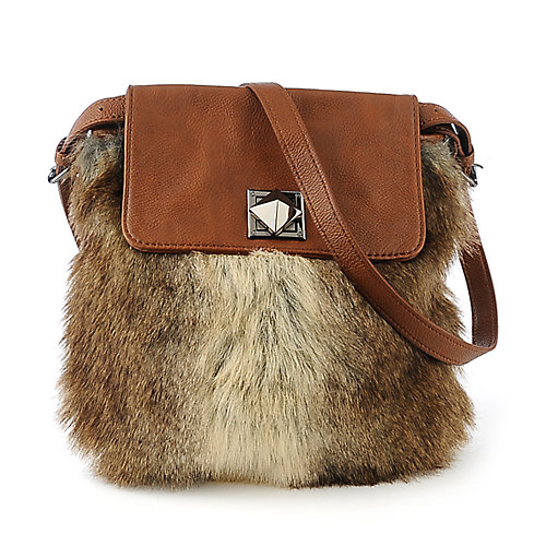 Nila Anthony Rabbit Fur Bag