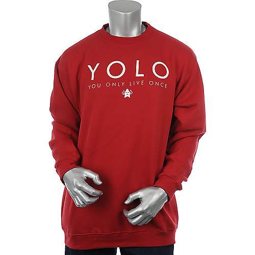 Shooting Star Clothing Mens YOLO Crewneck