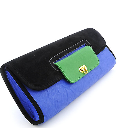 Nila Anthony Color Block Long Clutch
